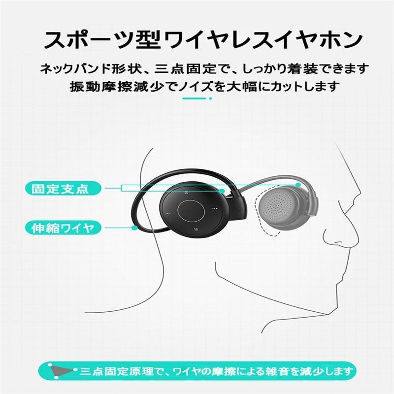 ブルートゥースイヤホン Bluetooth 5.0 ワイヤレスイヤホン ラジオ機能付き ネックバンド型 無痛装着タイプ ヘッドセット 最高音質 マイク内蔵 超長待機 slub-shop 05