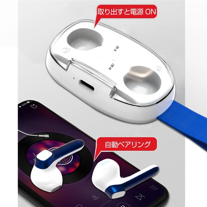 ワイヤレスヘッドセット Bluetooth 5.0 防水防汗 充電ケース付き HIFI高音質 クリア スタイリッシュ 片耳/両耳通用 遅延なし 無痛装着 自動ペアリング|slub-shop|03