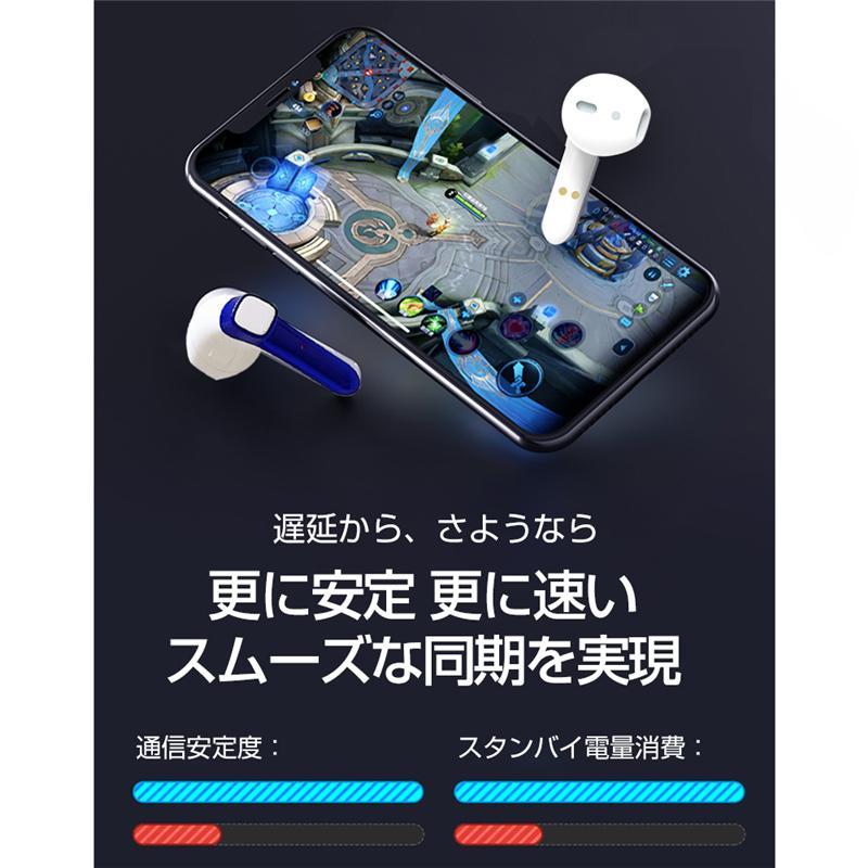 ワイヤレスヘッドセット Bluetooth 5.0 防水防汗 充電ケース付き HIFI高音質 クリア スタイリッシュ 片耳/両耳通用 遅延なし 無痛装着 自動ペアリング|slub-shop|05