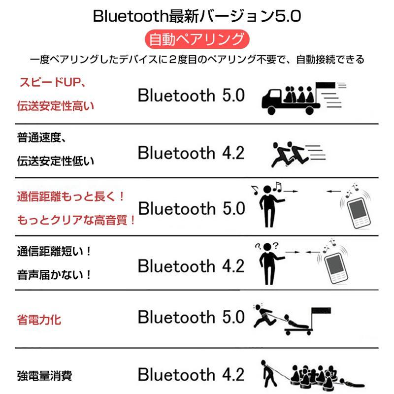 ワイヤレスヘッドセット Bluetooth 5.0 防水防汗 充電ケース付き HIFI高音質 クリア スタイリッシュ 片耳/両耳通用 遅延なし 無痛装着 自動ペアリング|slub-shop|06