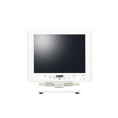 クイックサン [QT-802P-AV-TP] 8インチ スクエア タッチパネル 液晶ディスプレイ(800x600/D-Sub15Pin/スピーカー/アナログ抵抗膜方式/パールホワイト)|smafy