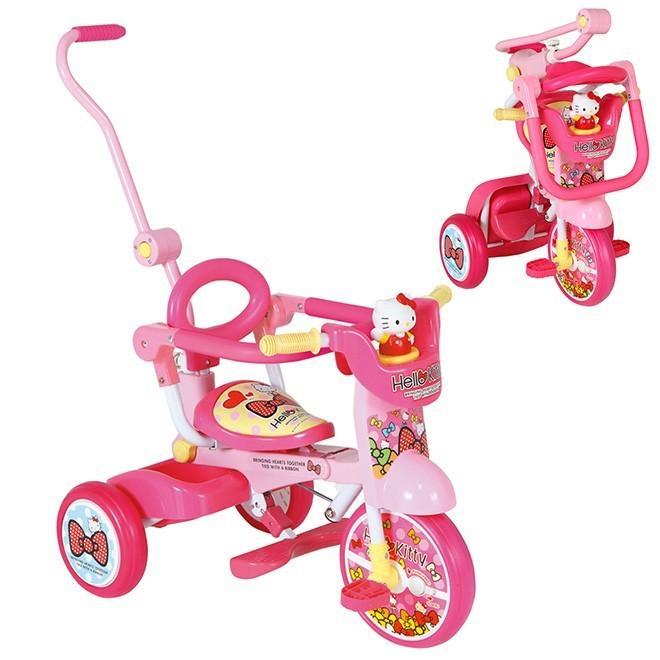 ハローキティ 折りたたみ 三輪車 ハローキティ オールインワン+F 折り畳み 三輪車 おもちゃ 乗物玩具 キッズ 子供 幼児 誕生日 送料無料