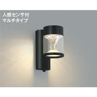 エクステリア 防雨型 照明器具 LED おしゃれ AU45495L 屋内外兼用 電球色 白熱球60W相当 人感センサ 照度センサ クラッシック ポーチ