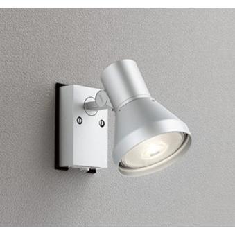 エクステリア 屋外灯 照明器具 LED おしゃれ 屋外スポットライト マットシルバー 電球色 防雨型 防雨型 LED電球 ビーム球150W相当 調光器不可 人感センサ付