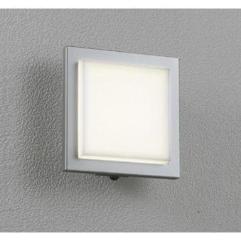 エクステリア 屋外灯 照明器具 LED おしゃれ 角型 電球色 防雨型 LED一体型 60W相当 調光器不可 人感センサ付