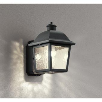 エクステリア 屋外灯 照明器具 LED おしゃれ コンパクト レトロ ナチュラルモダン ポーチライト 電球色 電球色 防雨型 LED電球 40W相当 調光器不可 人感センサ付