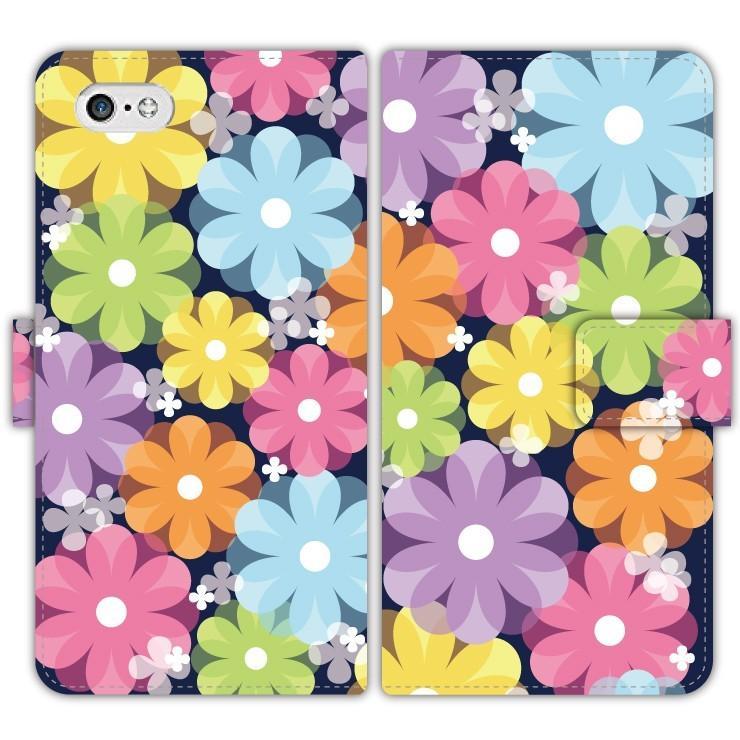 Flower 手帳型 スマホケース iPhone7 iPhone6s Plus Xperia 全機種対応 smartgadget