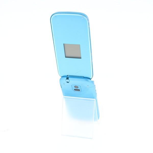 携帯電話 docomo 白ロム  F-01G らくらくホンベーシック4 ブルー