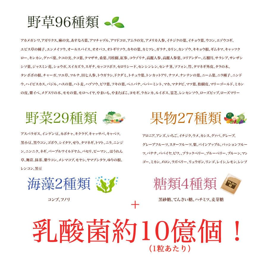 新・野草酵素 乳酸菌プラス(20粒入り) smcknekou 03
