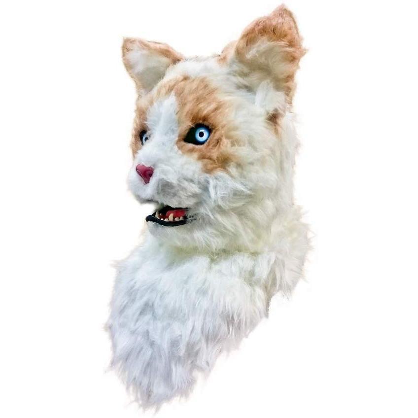 口が連動しリアルに動く!なりきりアニマルムービングマスク!【Cat/キャット】あなたも超ヒューマンな動物キャラに大変身
