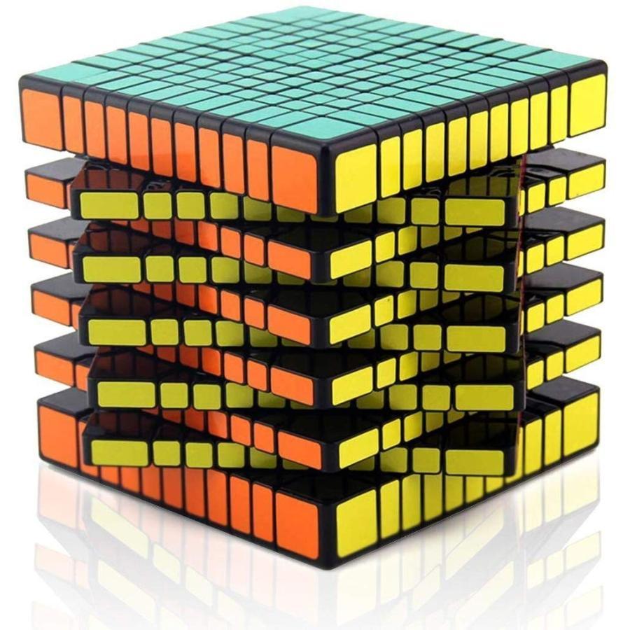 Shengshou 11 x 11 x 11スピードブラックマジックキューブプロツイストパズル 立体パズル スムーズ回転