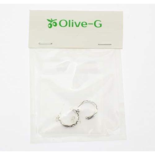 Olive-G ピアス フープ 輪っか セット ペア リング アラベスク 唐草 メンズ レディス C型 smile-box 03