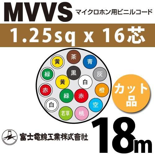 富士電線工業 MVVS 1.25sqx16芯 マイクロホン用ビニルコード (1.25mm 16C 16心)(切断 1m〜) カット品 18m MVVS-1.25-16C-18m