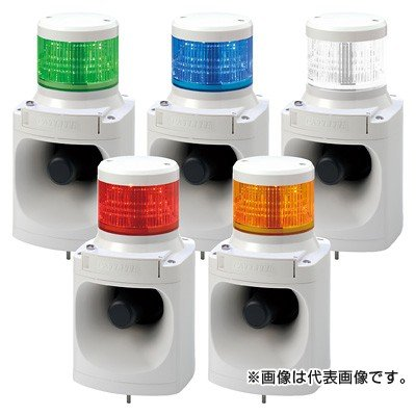 【平日15時まで当日発送】パトライト(PATLITE) LKEH-102FA-Y (DC24V/黄/1段式) LED積層信号灯付き電子音報知器(100Φ)