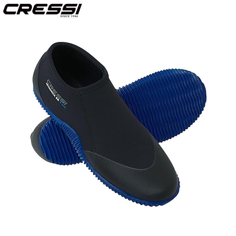 Cressi Minorca Shorty 3MMダイビングブーツスキューバダイビングショ BLACK BLUE L(41-42)