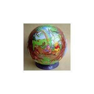 3D球体パズル ディズニー 60ラージピース プーさんの四季 (直径約15.2cm)