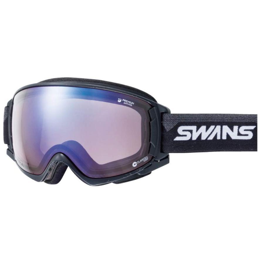 【スーパーセール】 SWANS(スワンズ) スキー スノーボード ゴーグル くもり止め プレミアムアンチフォグ搭載 紫外線で色が変わる調光ULTRAレンズ 撥水加工 RO, カラスチョウ d94309d7