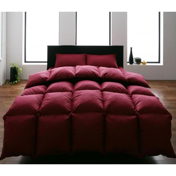 シンサレート高機能中綿素材入り布団 8点セット ベッドタイプ キング 9色から選べる! 洗える抗菌防臭10点セット ワインレッド