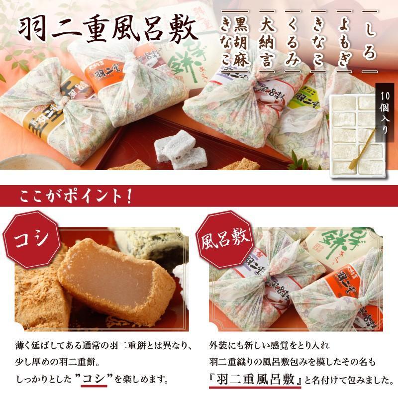 羽二重風呂敷 選べる5種セット 羽二重餅 赤袋入り 和菓子 福井 銘菓 ギフト|smileshoutengai|04