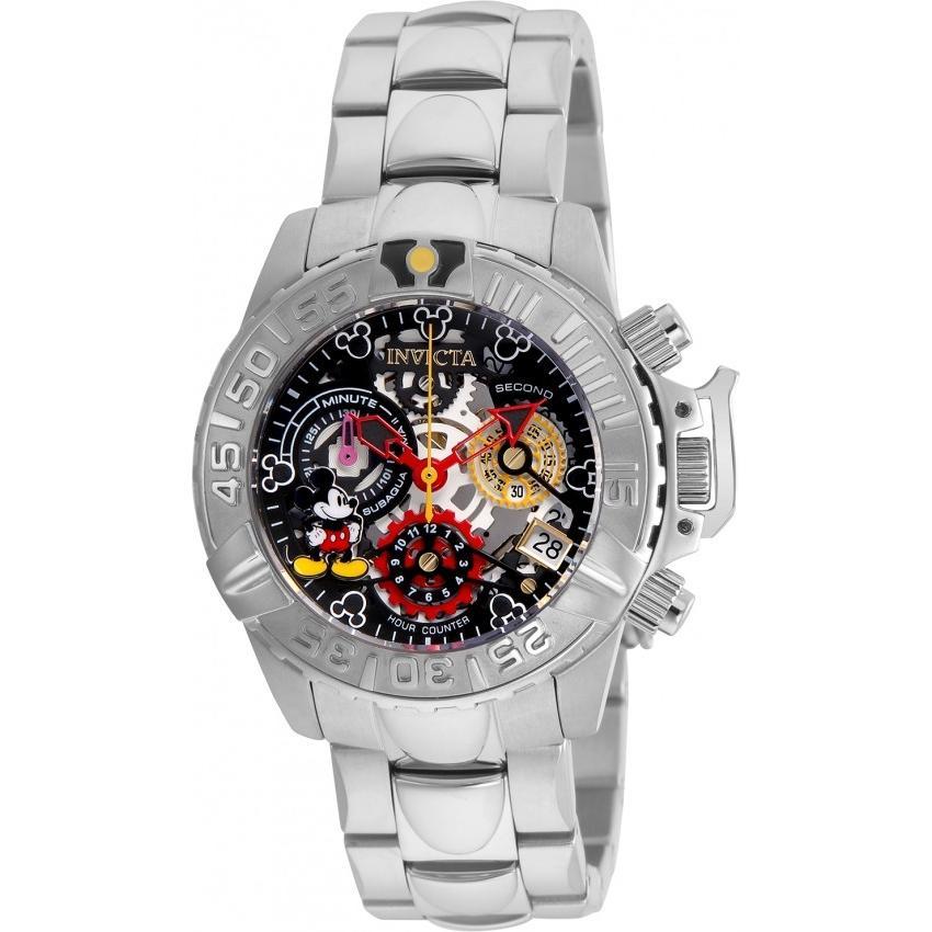 人気新品入荷 Invicta インビクタ 腕時計 女性用 24506 ディズニー スチールバンド クロノグラフ ミッキーウォッチ, ラディアンヌ 290384bd