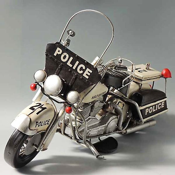 ブリキのおもちゃ motorcycle police (ハーレーポリスバイク) 27218
