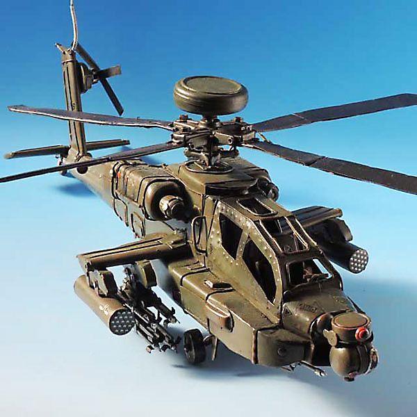 ブリキのおもちゃ 飛行機 (戦闘ヘリ) 27505