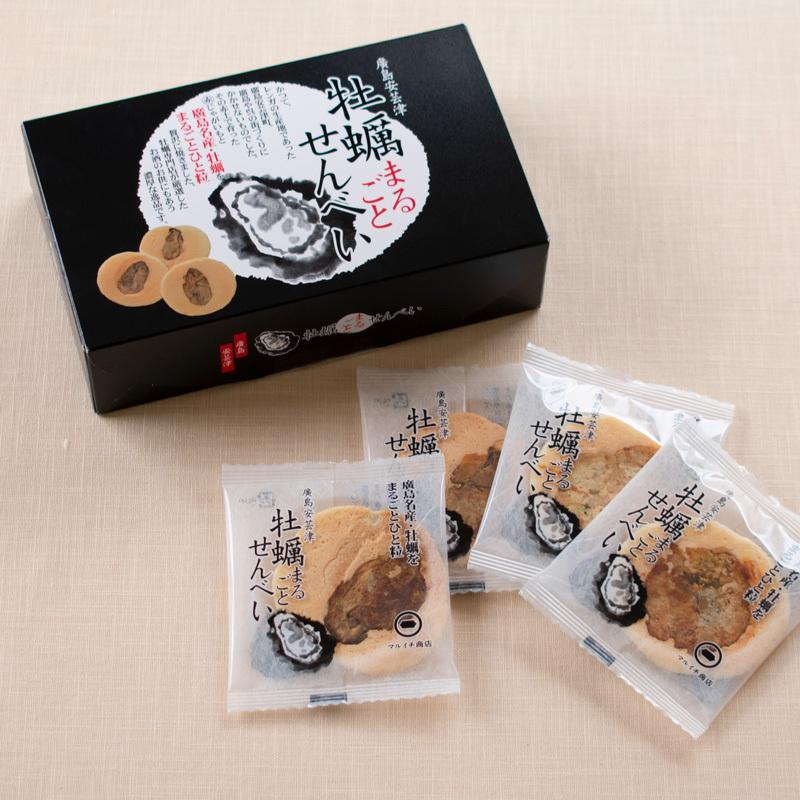 牡蠣まるごとせんべい 箱 マルイチ商店 牡蠣 かき せんべい 広島 広島土産 お菓子 お土産 海鮮せんべい|sn-hiroshima|06