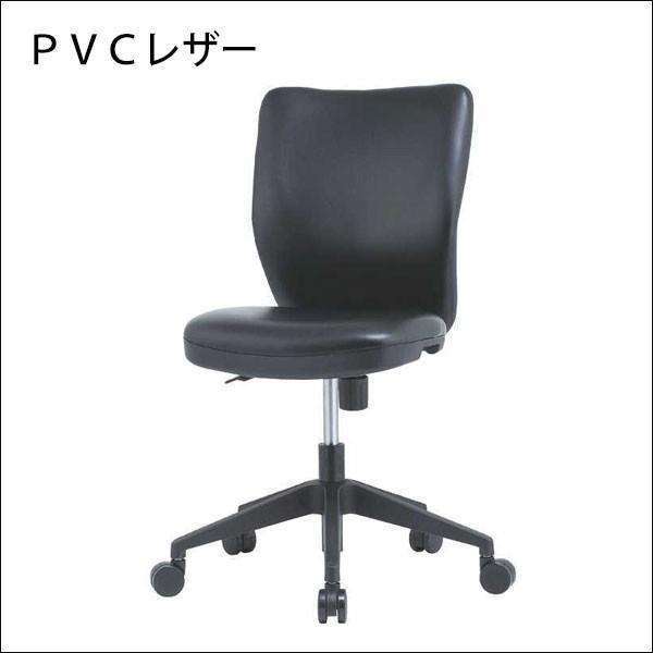 オフィスチェア HC−P102 ブラック PVCレザー 合成皮革 肘なし 幅46cm オフィスチェア HC−P102 ブラック PVCレザー 合成皮革 肘なし 幅46cm