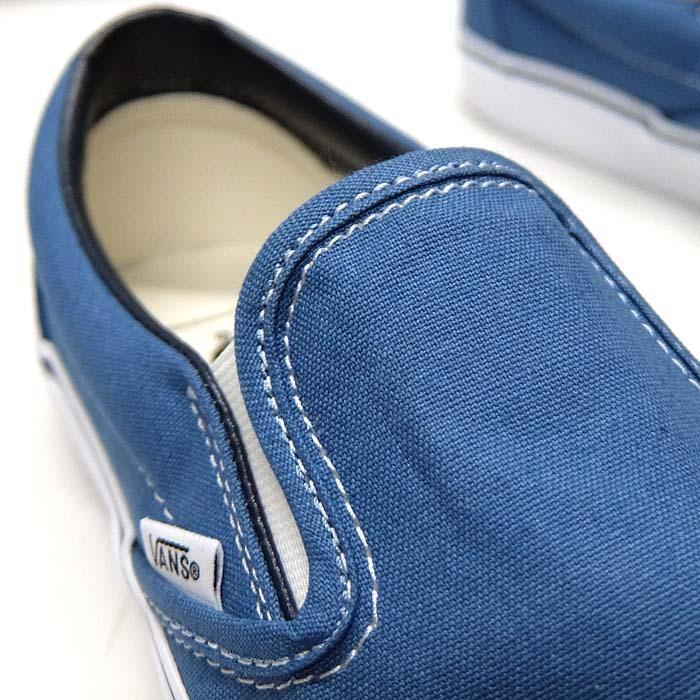 VANS CLASSIC SLIP-ON VN000EYENVY[バンズ クラシック スリッポン][メンズ/スニーカー/ヴァンズ/ネイビー/紺/定番/スケボー/USA企画]|sneaker-bouz|03
