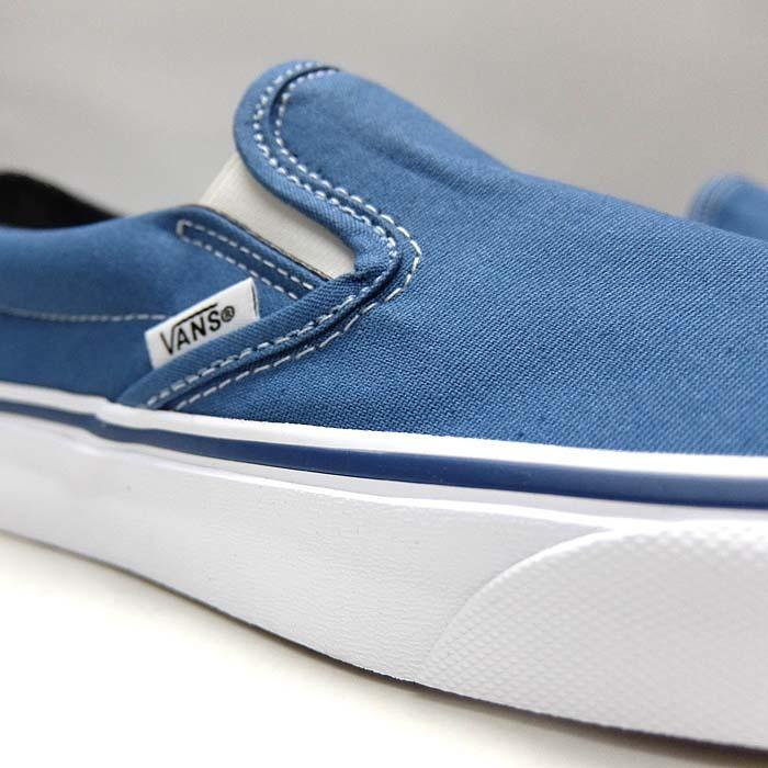 VANS CLASSIC SLIP-ON VN000EYENVY[バンズ クラシック スリッポン][メンズ/スニーカー/ヴァンズ/ネイビー/紺/定番/スケボー/USA企画]|sneaker-bouz|07