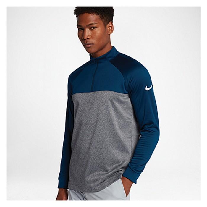 Nike ナイキ 海外モデル Tシャツ メンズ ゴルフ トップス 半袖 NIKE サーマ FIT 1/2 ZIP COVER UP スポーツ シャツ