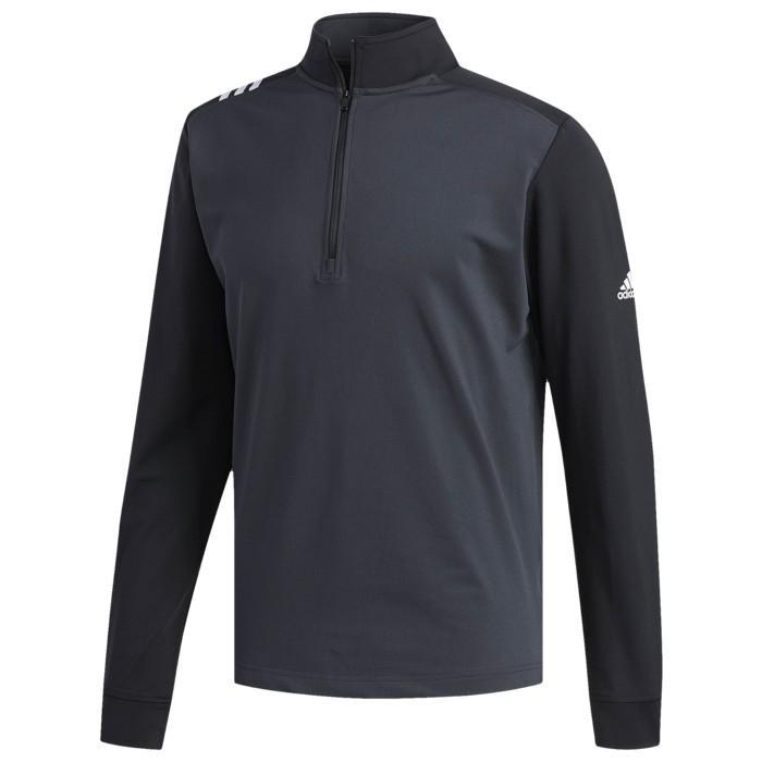 アディダス adidas ゴルフ Tシャツ メンズ トップス 半袖 ADIDAS 3STRIPE GOLF 1/4 ZIP メンズウエア スポーツ