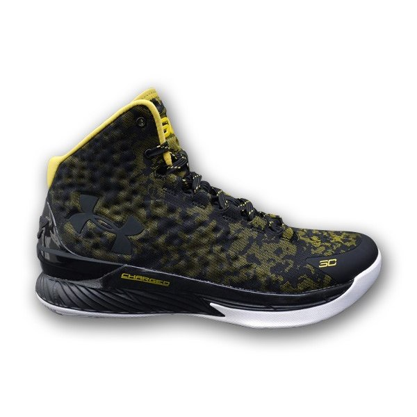 CHARGED FOAM CURRY CURRY CURRY ONE 1 'WARRIORS AWAY' チャージド フォーム カリー 1 【MEN'S】 黒/白い/taxi 1258723-001 3e5