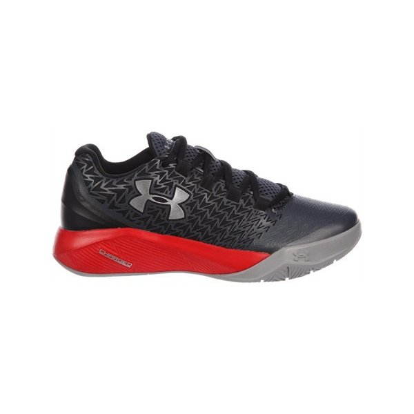 UNDER ARMOUR CLUTCHFIT DRIVE 3 LOW GS アンダーアーマー クラッチフィット ドライブ 3 ロー 【BOY'S】 stealth グレー/rocket 赤/metallic 銀 1278307-009