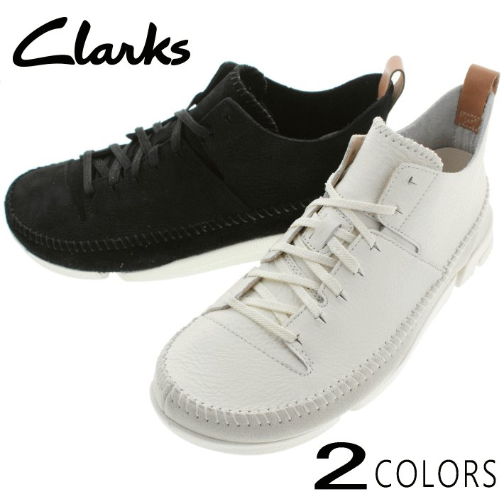 定番 クラークス Clarks スニーカー トライジェニック フレックス Trigenic Flex 892E ホワイト(WHIT) ブラックヌバック(BS) sneakersoko