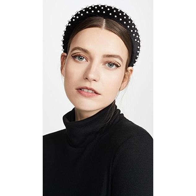 激安通販の ユニセックス Pearl 鞄 バッグ Velvet バッグ Pearl Padded Velvet Headband, カジキチョウ:ec04a4c2 --- graanic.com