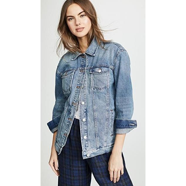 上等な ユニセックス 鞄 鞄 バッグ Jean ユニセックス Oversized Jean Jacket, お菓子ショップパッソ:b58a4e42 --- fresh-beauty.com.au