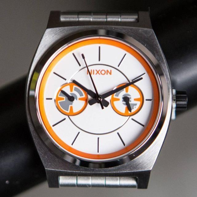 ユニセックス 時計 Nixon x Star Wars Time Teller Deluxe Watch - BB8 (銀 / オレンジ)