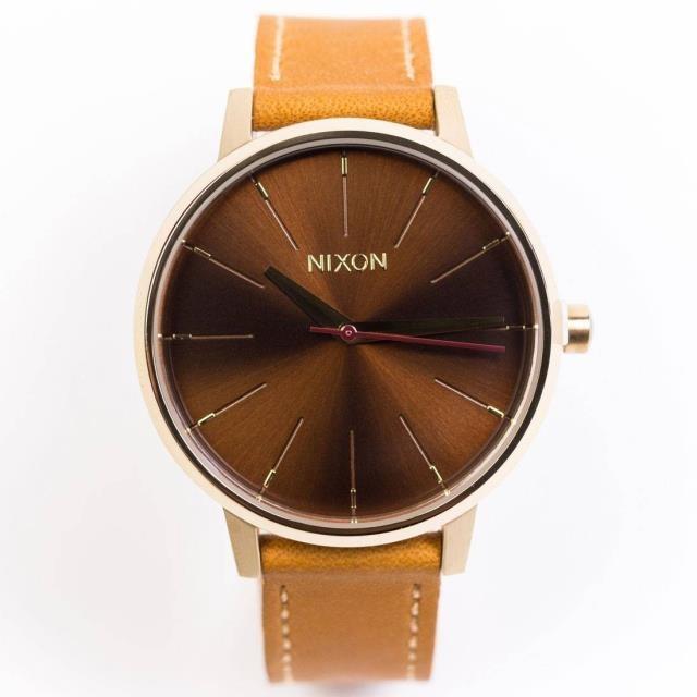 ユニセックス 時計 Nixon Kensington Leather Watch (gold / manu)