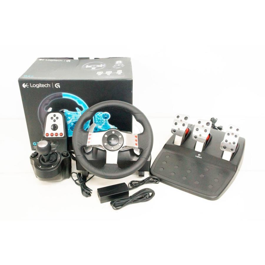 中古 Logicoolロジクール PS3用レーシングホイール G27 LPRC-13500 ステアリングコントローラー