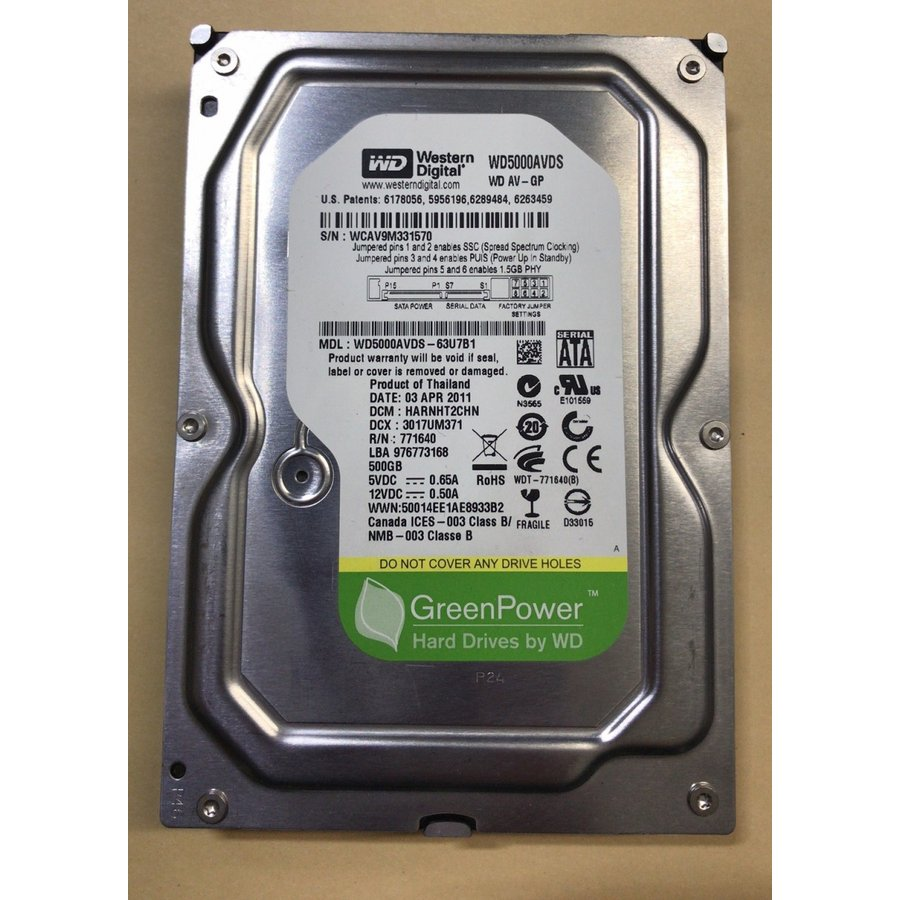 "For AV /& DVR Western Digital WD5000AVDS 500GB 32MB Cache 3.5/"" SATA2 Hard Drive"