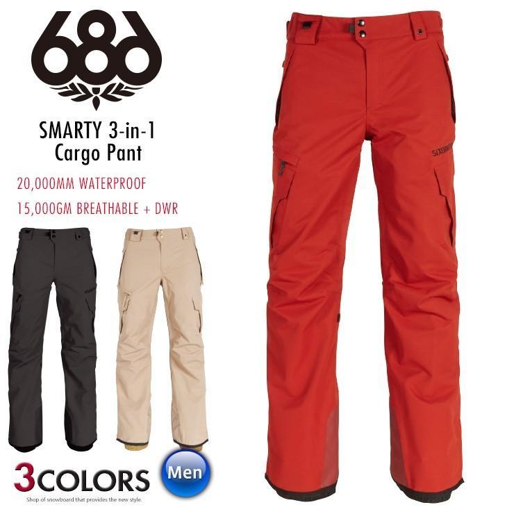 【値下げしました!】18-19 686 シックスエイトシックス SMARTY 3-in-1 Cargo Pant カーゴパンツ 18/19 スノーボード ウェア スノーウェア