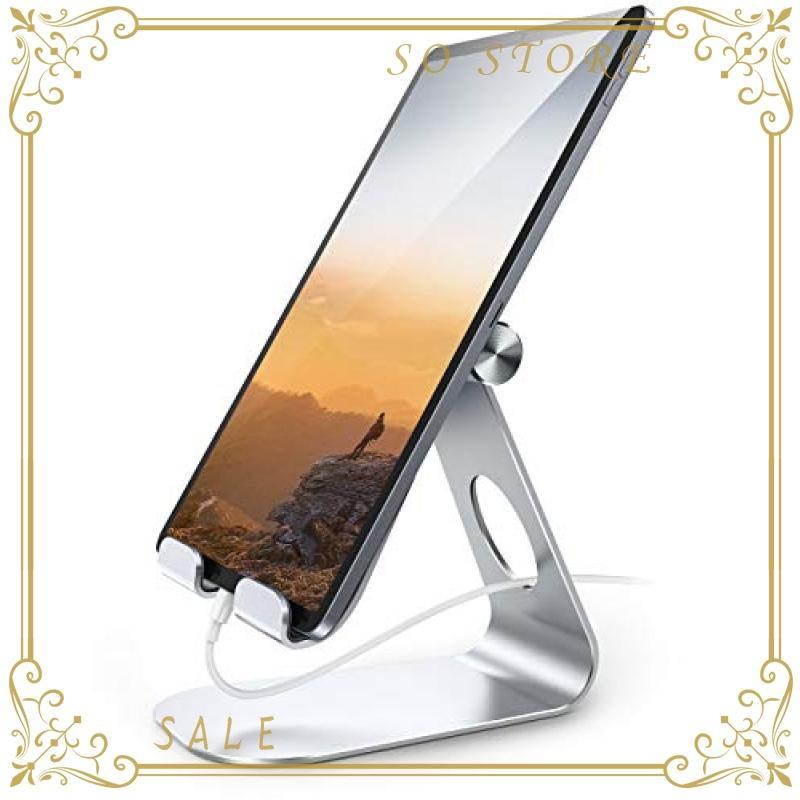 タブレット スタンド アルミ ホルダー 角度調整可能, Lomicall iPad用 stand : 卓上縦置きスタンド, タブレット置き台|so-store