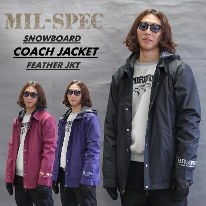 MIL-SPEC ミルスペック HEATER JACKET フェザージャケット 耐水 透湿 メンズ レディース スノーボードウェア−