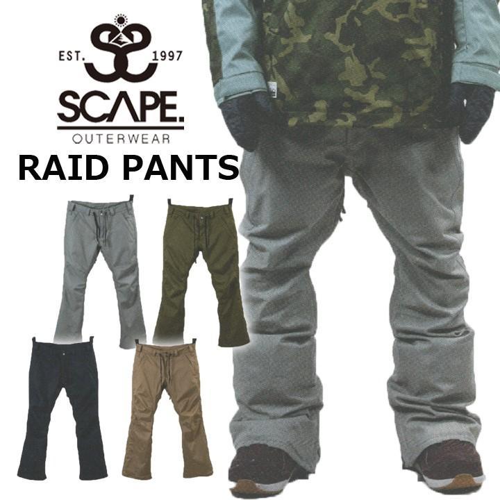 18-19 SCAPE エスケープ RAID PANTS レイドパンツ 送料無料 20%OFF 即出荷