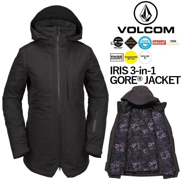 19-20 VOLCOM ボルコム IRIS 3-IN-1 GORE JACKET アイリススリーインワンゴアジャケット LADYS レディース 国内正規品 送料無料 予約商品