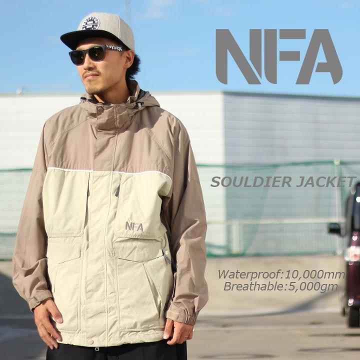 NFA エヌエフエー SOULDIER JACKET ソルジャージャケット SAND/LIGHT褐色 激安特価品