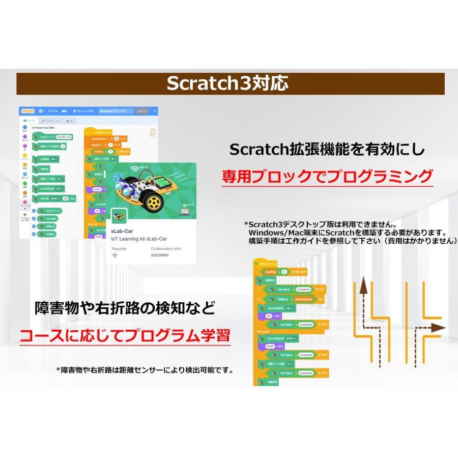 sLab-Car(エスラボ・カー)スマートロボットカー【Scratch・Arduino対応】スターターキット《IoT電子工作・プログラミング教育教材》 (標準)|socinno|02