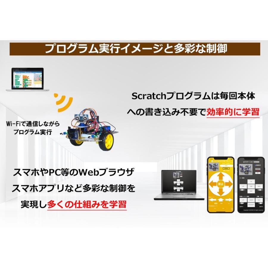 sLab-Car(エスラボ・カー)スマートロボットカー【Scratch・Arduino対応】スターターキット《IoT電子工作・プログラミング教育教材》 (標準)|socinno|03