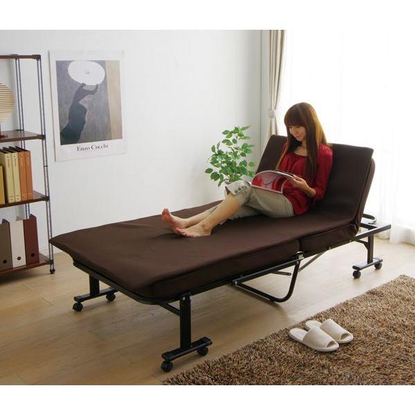 ベッド シングル 折りたたみベッド 折り畳みベッド OTB MTN フレーム